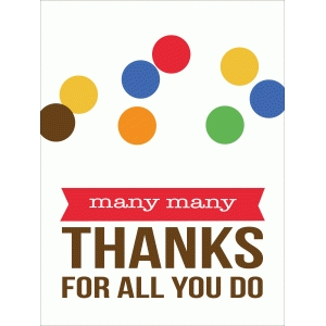 many many thanks quote card