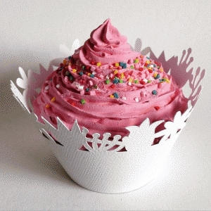 spring flower cupcake wrapper