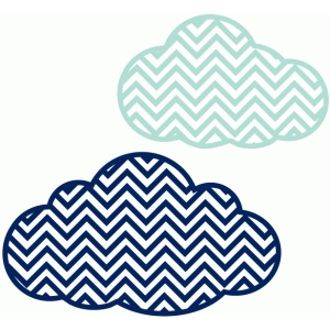 set of 2 chevron clouds
