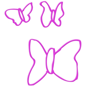 odd butterflies outline