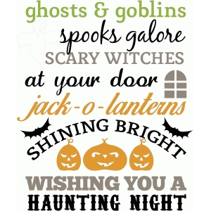 ghosts and goblins halloween quote