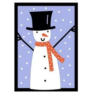 snowman layered card