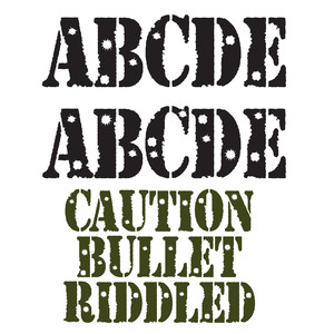 snf caution bullet riddled