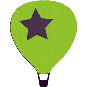 air balloon - star
