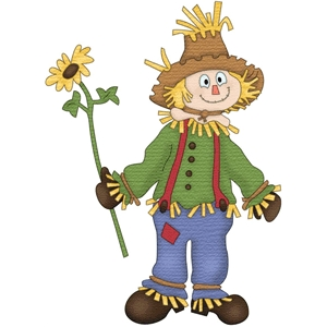 scarecrow with a sunflower
