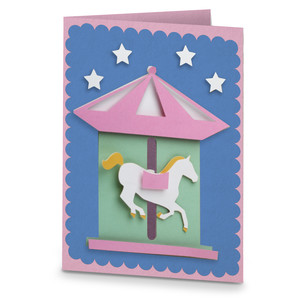 merry go round motion card