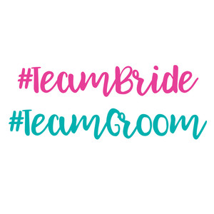team bride and groom