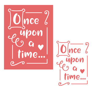 once upon a time stencil