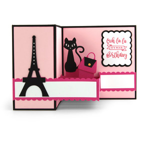 pop up box card eiffel tower birthday