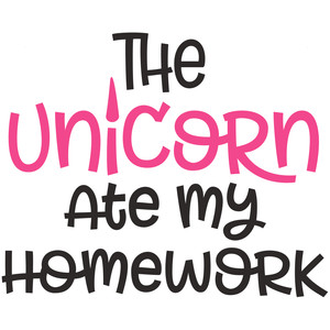 the unicorn ate my homework