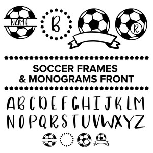 soccer frames and monograms font