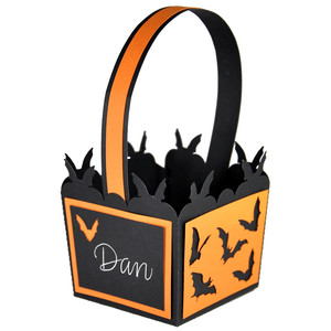 halloween bat treat basket