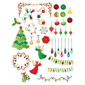 christmas lights and stuff planning stickers