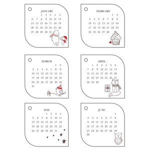2019 littles calendar - january-june