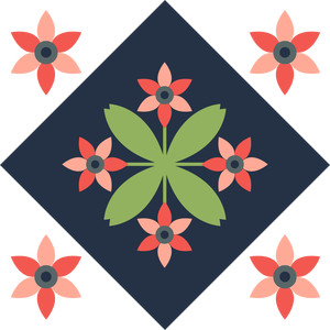 blooming blossoms barn quilt