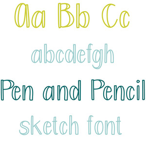 pen and pencil sketch font
