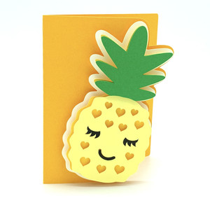 pineapple and hearts card