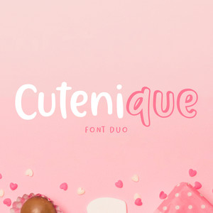 cutenique font