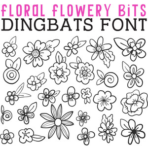 cg floral flowery bits dingbats