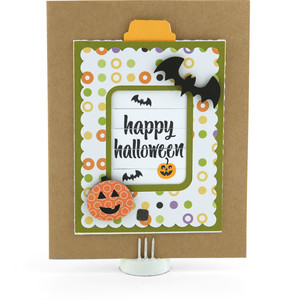 changing scene card happy halloween