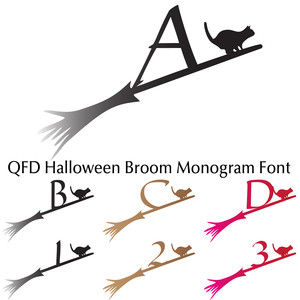 qfd halloween broom monogram font