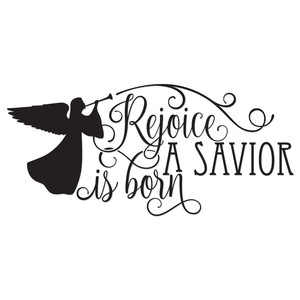 rejoice a savior is born