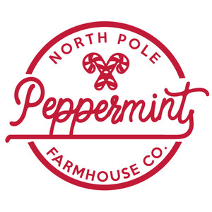 north pole peppermint label & tag