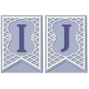 pennant lattice card letters i j