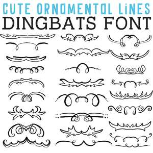 cg cute ornamental lines dingbats
