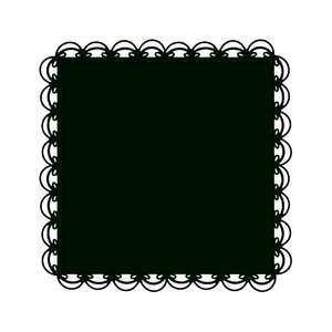 lace square doily