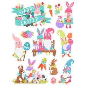 easter gnome stickers