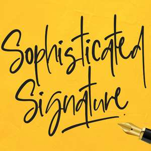 sophisticated signature