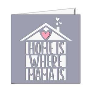 'home is where mama is' card