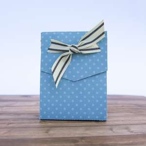 treat bag with ribbon slits
