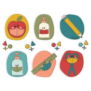 back to school mask stickers