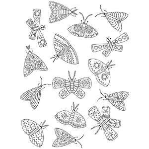 moth coloring stickers