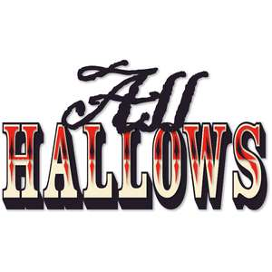 hallows harlequin word art