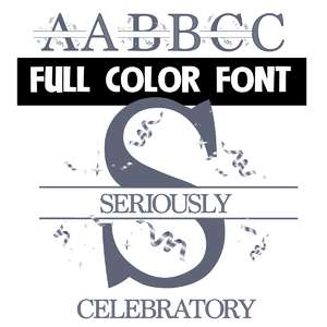 seriously celebratory color font