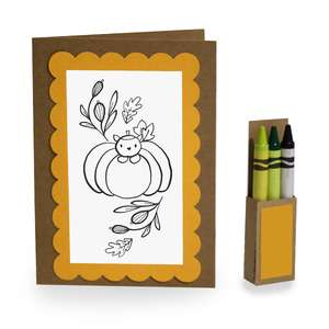4 x 5 kitty pumpkin coloring card