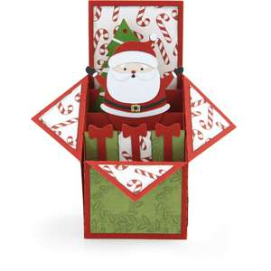 tiered box card santa