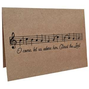 oh come let us adore him music card