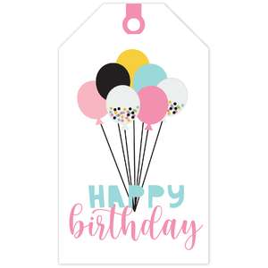 balloon birthday tag