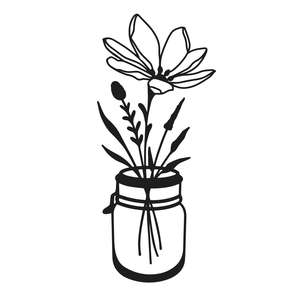 wildflower jar