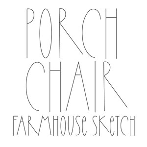 dtc porch chair sketch