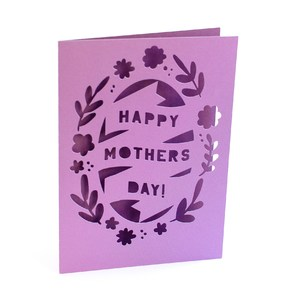 mothers day oval wreath card