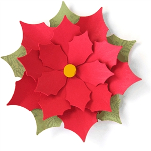 3d poinsettia flower