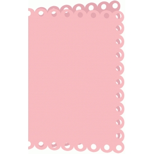 scalloped 4x6 card