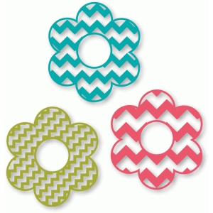 flower - chevron