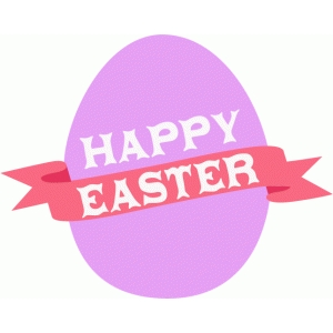 happy easter egg with ribbon