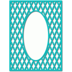 diamond frame oval cutout
